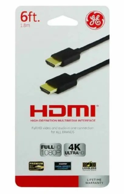GE 6 ft HDMI Cable (33574)