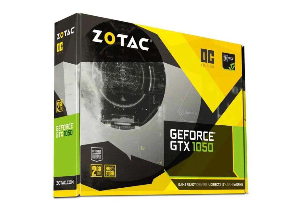 ZOTAC GeForce GTX1050 OC Edition Video Card (ZT-P10500D-10H)