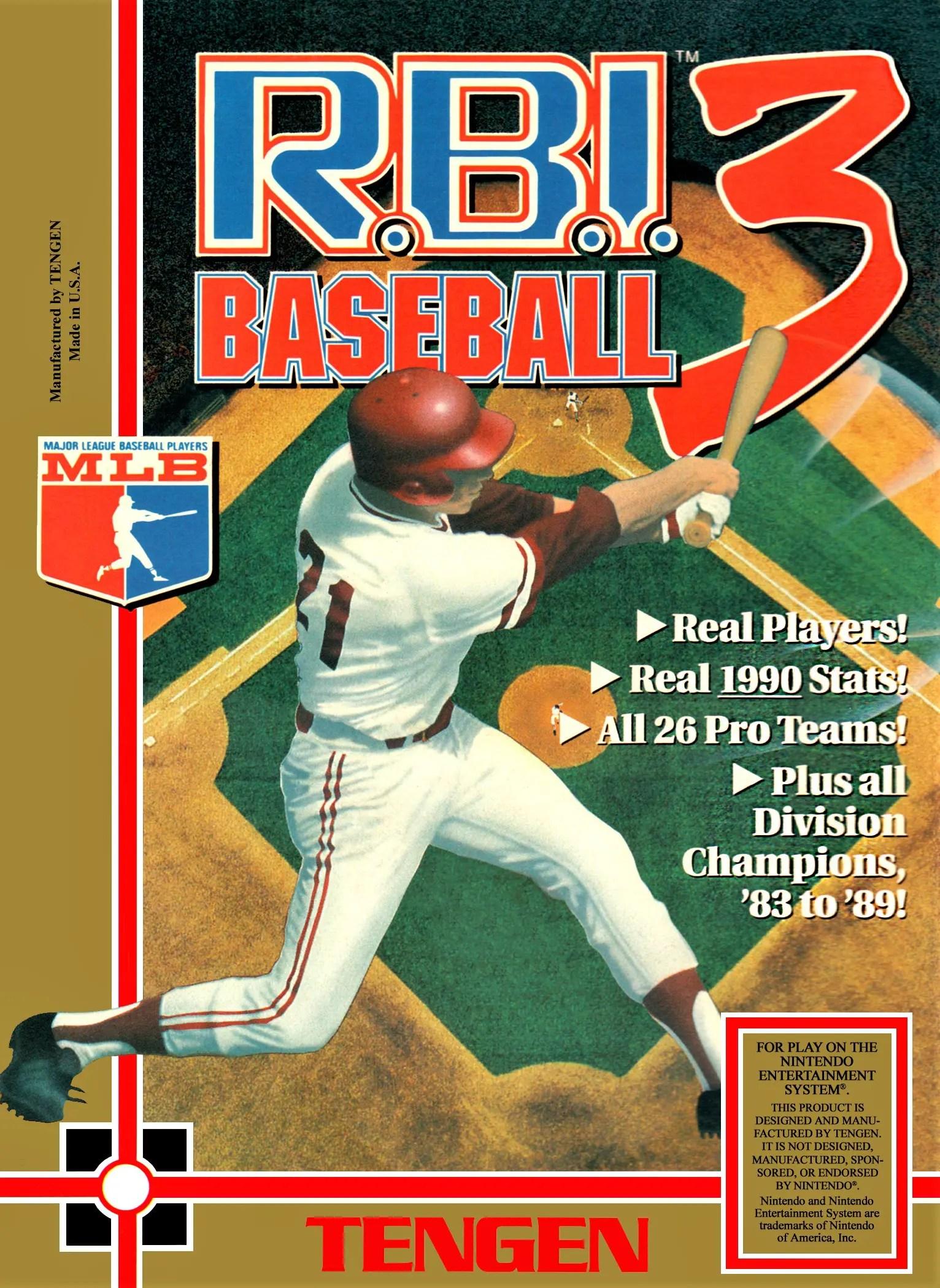 R.B.I. Baseball 3 for Nintendo Entertainment System (NES)