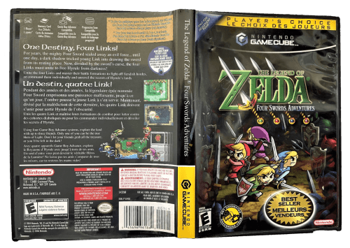 The Legend of Zelda: Four Swords Adventures (Player's Choice) for Nintendo GameCube