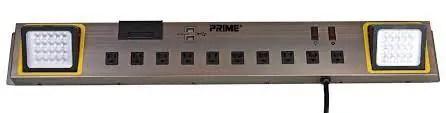 PRIME 10-Outlet & 2 USB Charging Port Power Workshop Centre (CCPBLEDBRM)