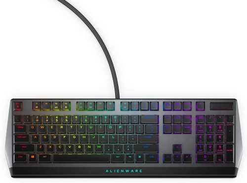 Dell Alienware Low Profile RGB Mechanical Gaming Keyboard (Black/Dark Side of the Moon) (AW510K)