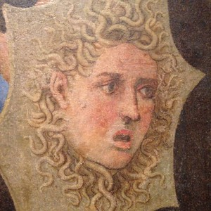 """What did you say about Woodrow Wilson?"" (Detail of Minerva by Girolamo Genga)"