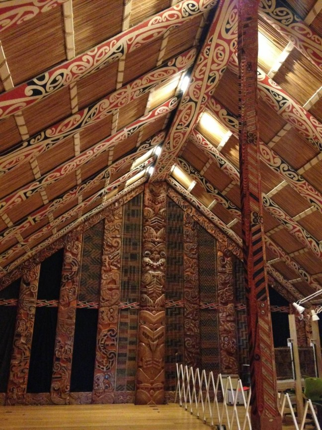 A peek inside a Maori meeting house in the Auckland War Memorial Museum!