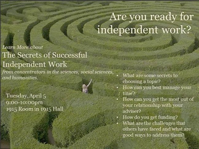 Are you ready for independent work