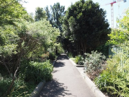 Walkway to Wentworth Park Light Rail stop 2014