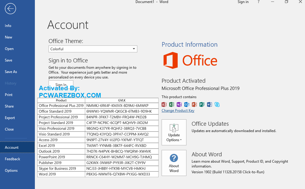 Microsoft Office 2020 cracked