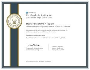 Certificado-Master the OWASP Top 10-diploma Linkedin Learning