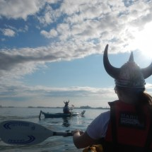 Vogalonga 2016- 26: Frühmorgens in der Weite der Lagune ...
