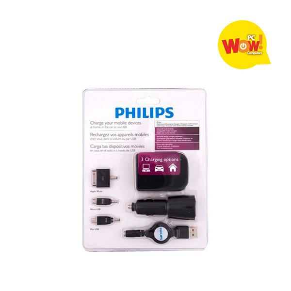 Kit Cargador Usb Philips 3 En 1
