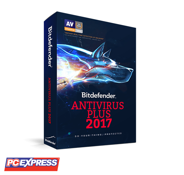 Bitdefender Antivirus Plus 2017 2 Licenses (1 PC per license)