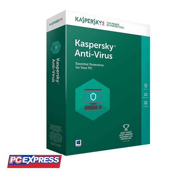 Kaspersky Anti-Virus 2018 3 PCs (2 Years Protection)