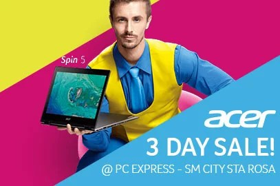 Acer 3 Day Sale @ SM City Santa Rosa | PC Express