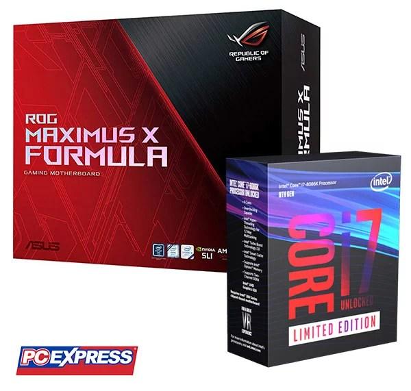 Intel Core i7-8086K + ASUS ROG Maximus X Formula