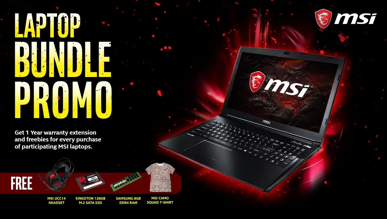 Msi Laptop Bundle Promo Pc Express Hp Get A Free Item For Every Purchase Of Product