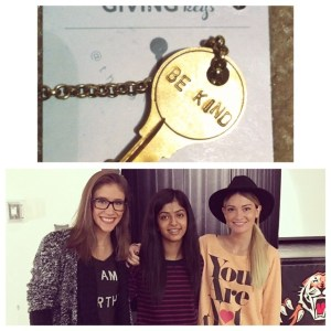 Simrat with Molly Thompson and Lauren Paul, Kind Campaign co-founders
