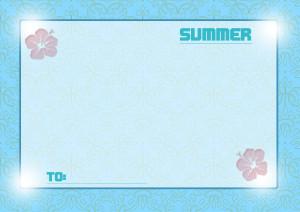 夏メッセージカード2