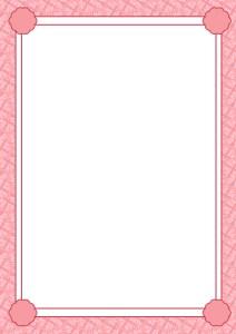 シンプルフレーム:縦:ピンク