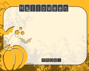 ハロウィンメッセージカード3