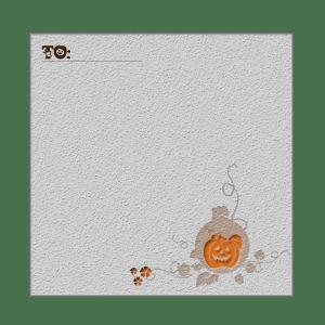 ハロウィンのメモ用紙3