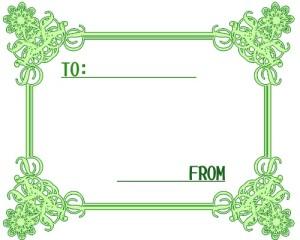 お洒落なフレーム:緑