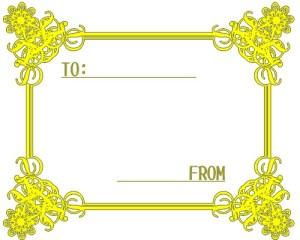 お洒落なフレーム:黄