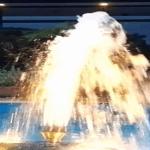 Fuente de Agua Flotante Espumoso