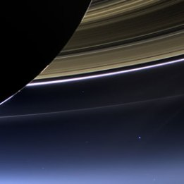 It's a small world !  Cassini probe captures view of Earth from Saturn