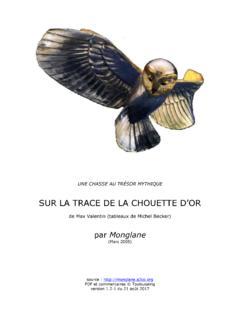 Sur La Trace De La Chouette D'or : trace, chouette, TRACE, CHOUETTE, Sur-la-trace-de-la-chouette-d-or.pdf, PDF4PRO