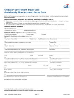 Citibank Government Travel Card (Individually … / citibank-government-travel-card-individually.pdf / PDF4PRO