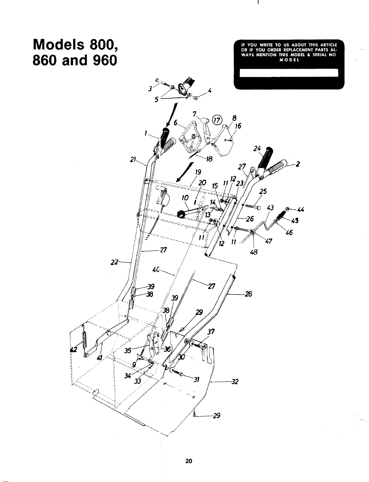 Page 20 of MTD Snow Blower 315-800-000 User Guide