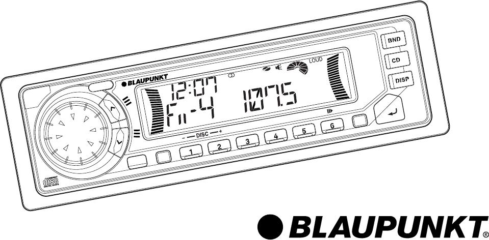 Blaupunkt Car Stereo System HOUSTON DM189 User Guide