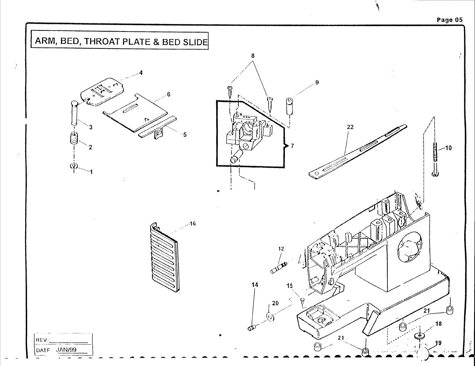 Page 7 of Singer Sewing Machine CM17 User Guide