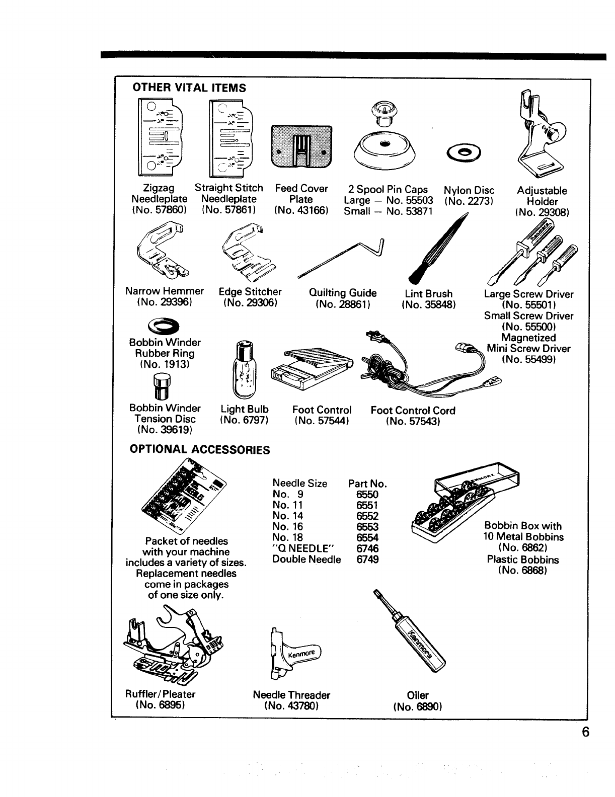 Page 7 of Kenmore Sewing Machine 17920 User Guide
