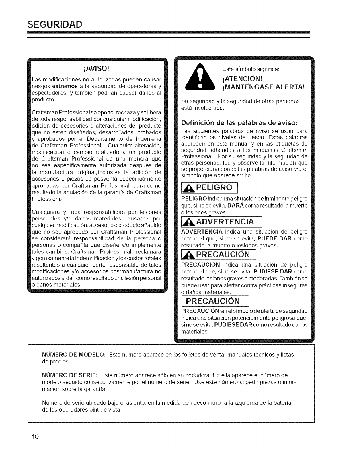 Page 42 of Craftsman Lawn Mower 127.28877 User Guide