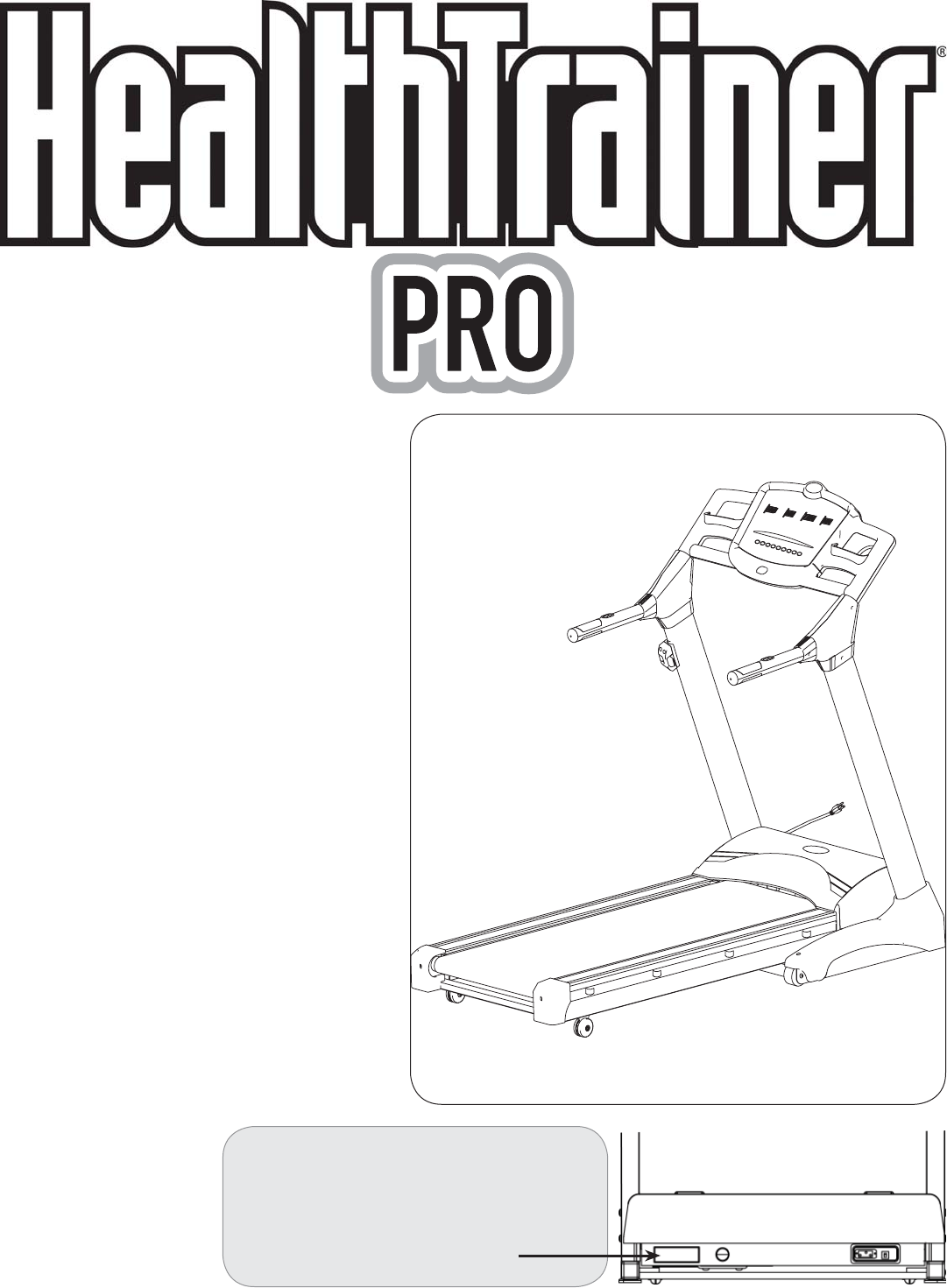 Pro Fitness Treadmill Manual Instructions