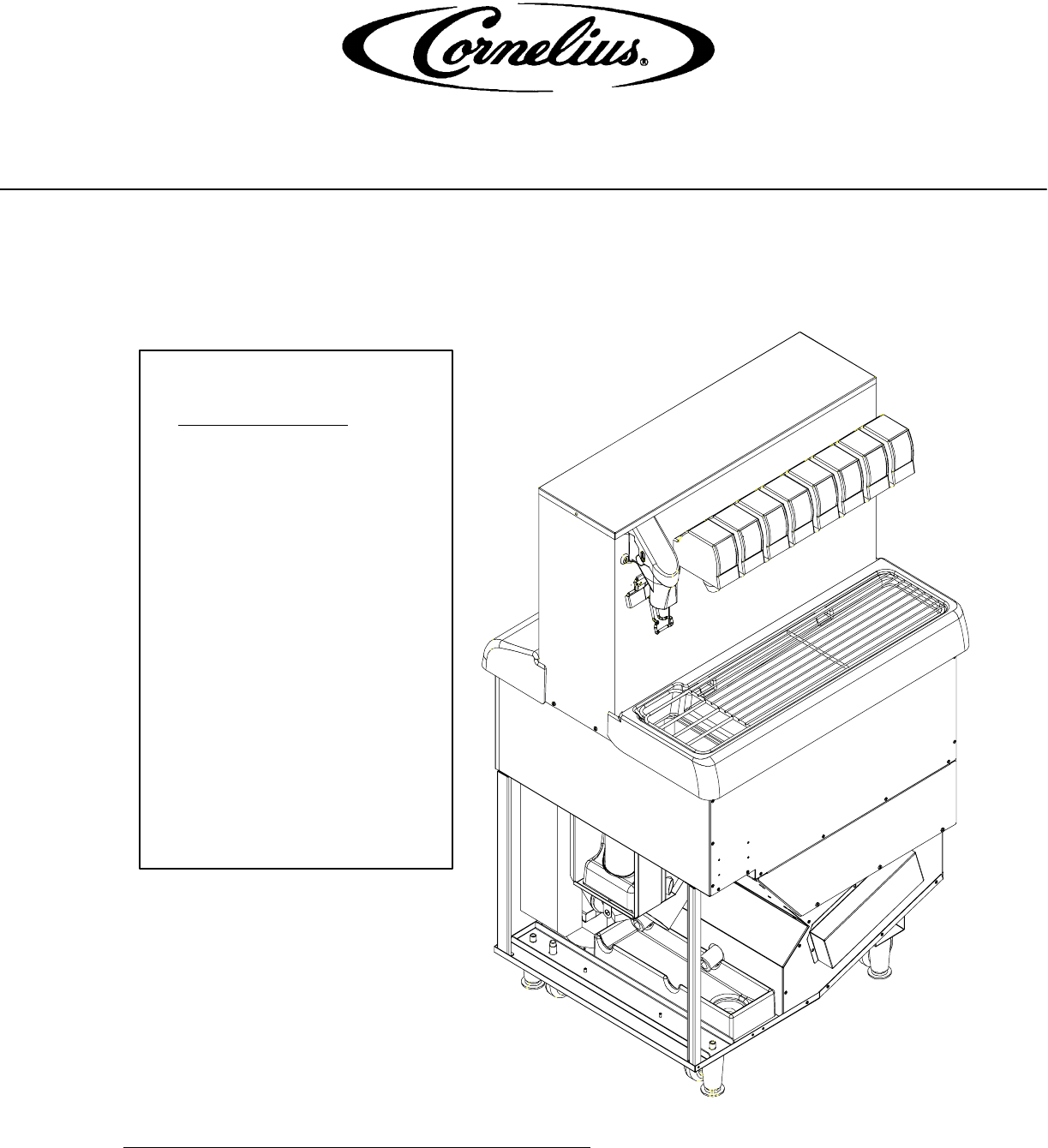 Cornelius Beverage Dispenser PR150 BC User Guide