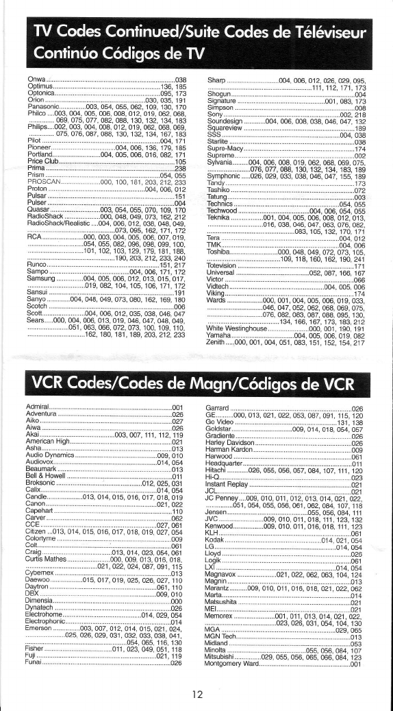 Page 6 of RCA Universal Remote RCU704 Series User Guide