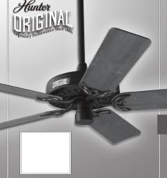 hunter fan fan 23838 user guide manualsonline com rh homeappliance manualsonline com ceiling fan speed switch wiring hunter ceiling fan capacitors [ 1224 x 1584 Pixel ]