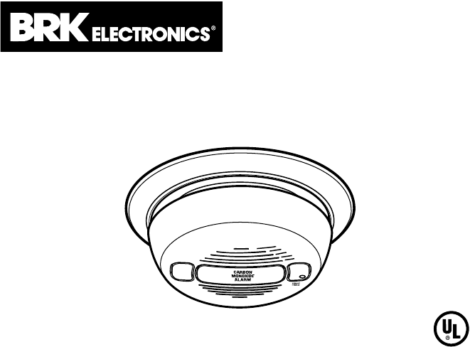 BRK electronic Smoke Alarm CO5120B User Guide