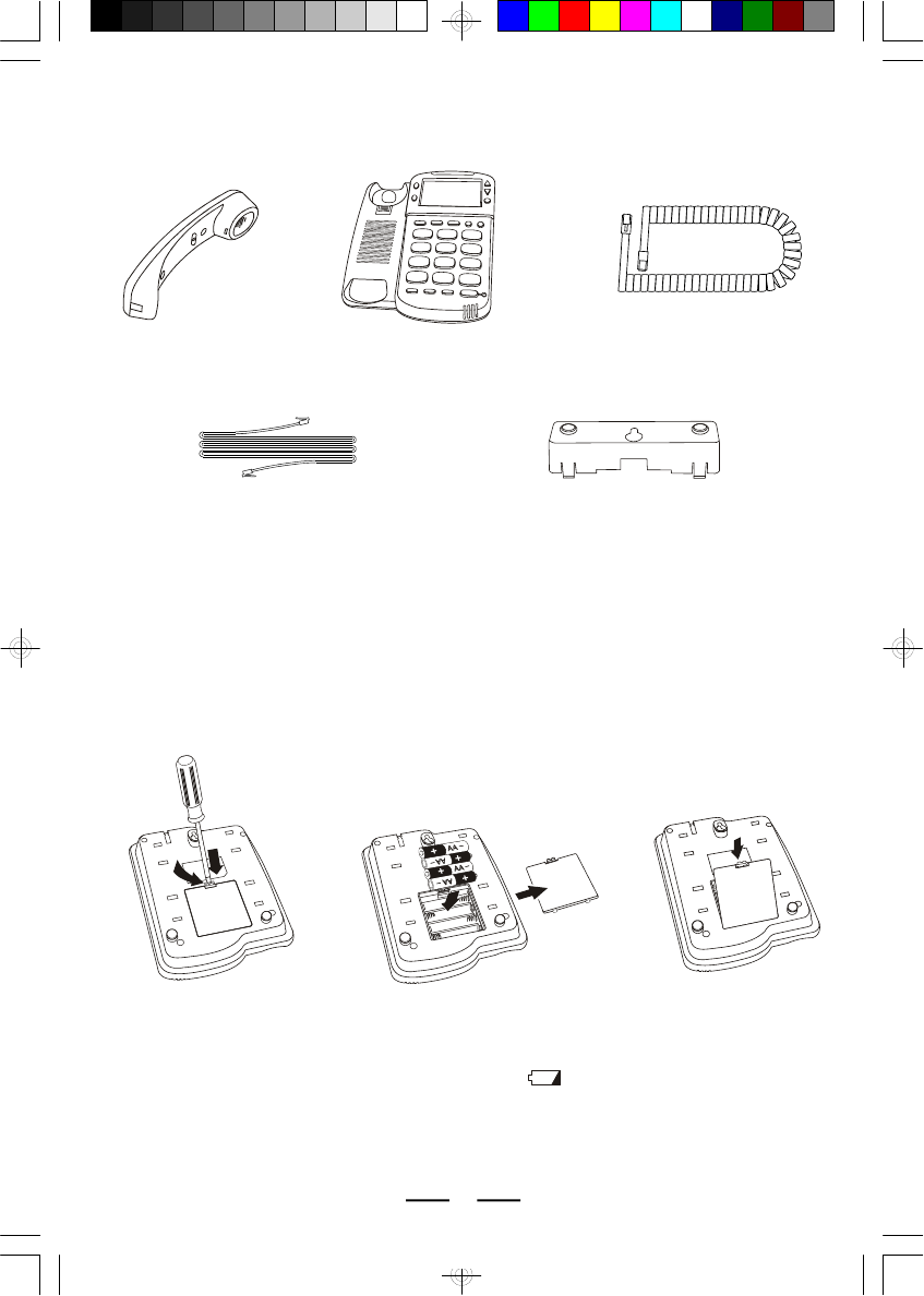 Page 4 of Lenoxx Electronics Telephone PH-5562 User Guide