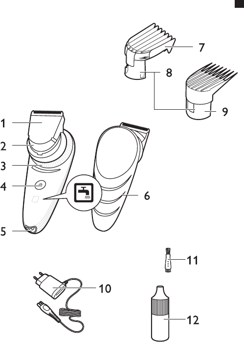 Page 3 of Philips Hair Clippers QC5570 User Guide