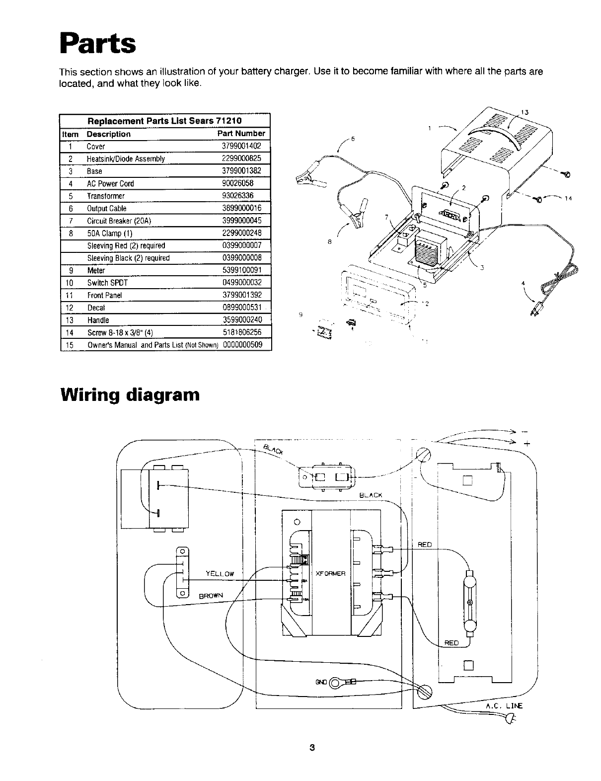 Page 4 of Sears Battery Charger 200.7121 User Guide