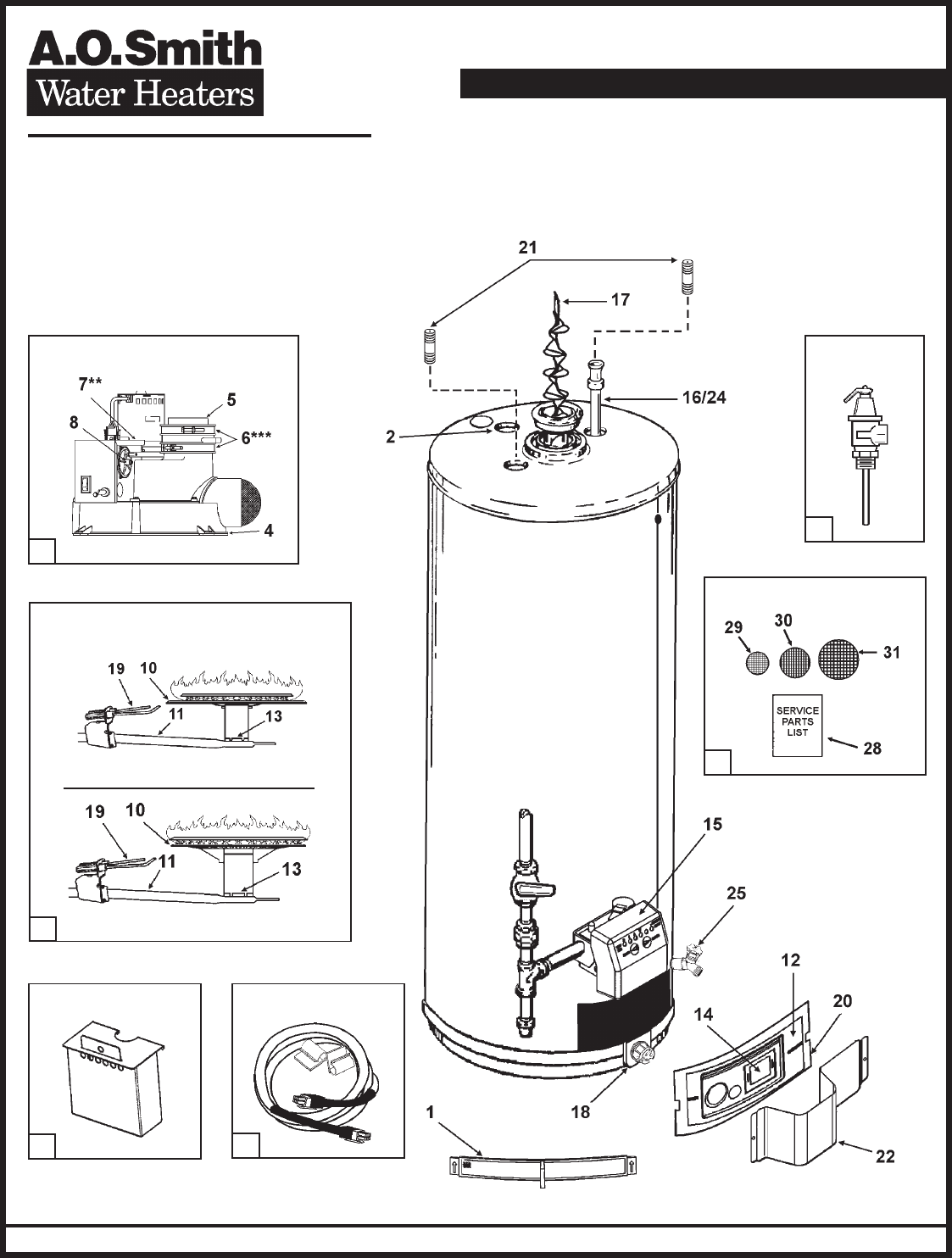 A O Smith Water Heater Gpvh 40 User Guide