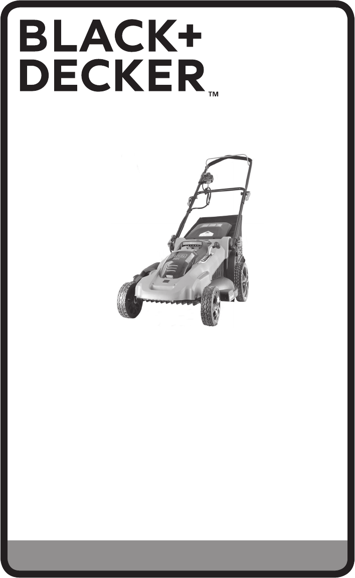 Black & Decker Lawn Mower CM2040 User Guide