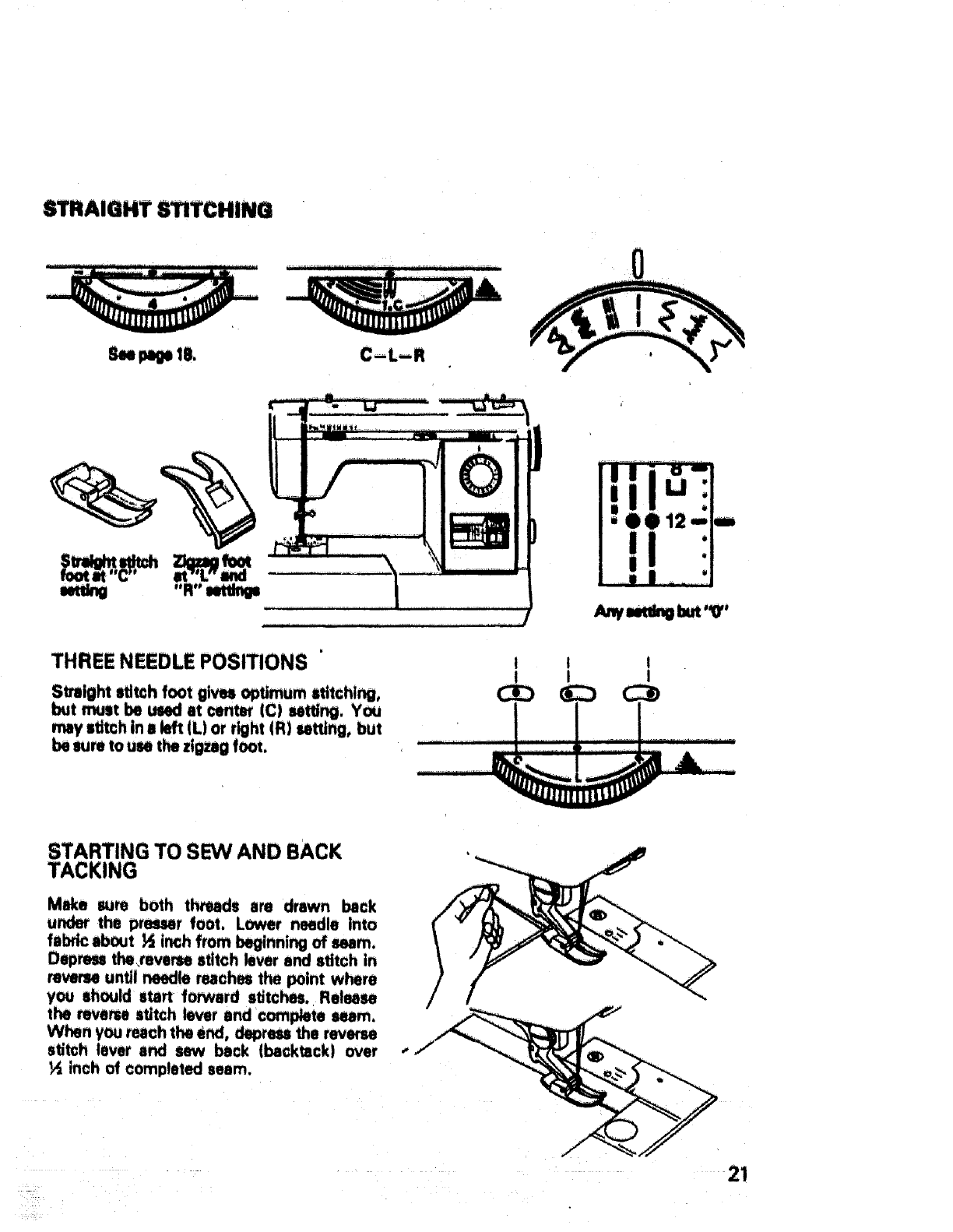 Page 22 of Sears Sewing Machine 17651 User Guide