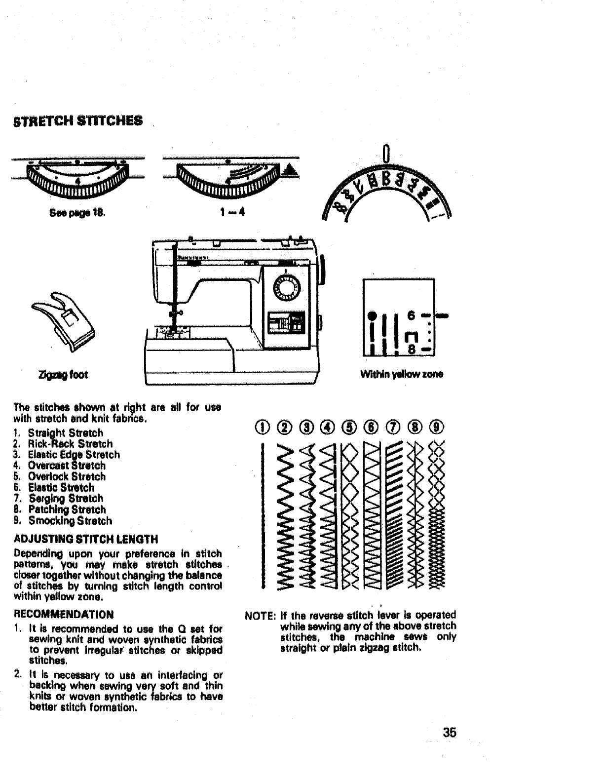 Page 36 of Sears Sewing Machine 17892 User Guide