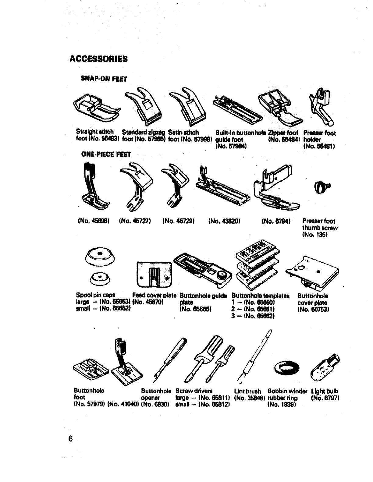 Page 7 of Sears Sewing Machine 17871 User Guide