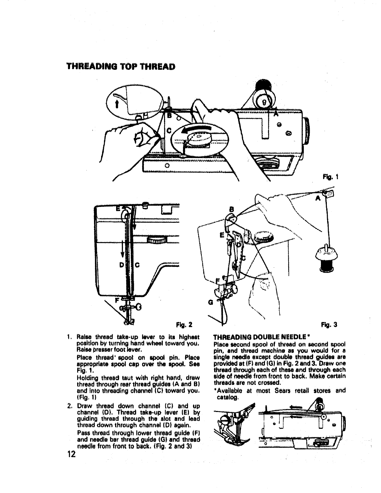Page 13 of Sears Sewing Machine 17892 User Guide