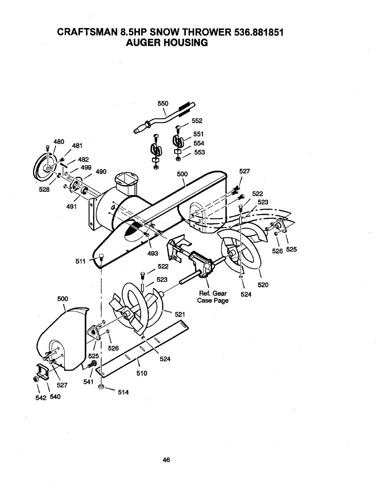 Page 46 of Craftsman Snow Blower 536881851 User Guide